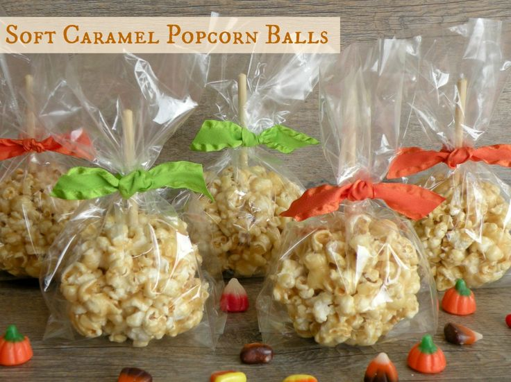 Soft Caramel Popcorn Balls  Ingredients:    1 cup butter  1 cup brown sugar  2 rounded cups mini marshmallows (or about 25 large)  1/2 teaspoon salt  1/2 teaspoon vanilla  18 cups popped corn (about 6 tablespoons of kernels)