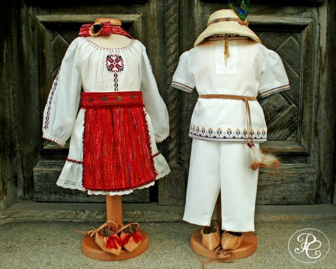 """Baby traditional costume from Romania, Part of the """"Ballerina&The Funky Boy"""" Collection."""