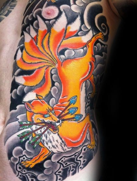 Ahri the Nine Tailed Fox 2 by weijunsyu on DeviantArt ... |Tribal Nine Tailed Fox Tattoos