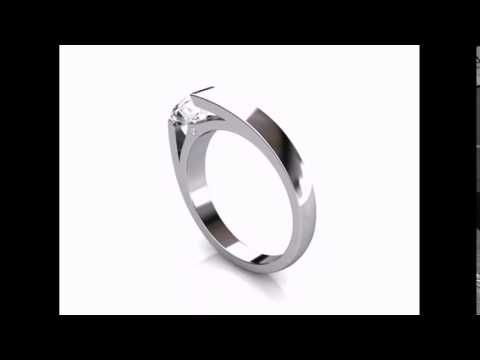 Tenision Set Diamond Ring. Round Brilliant Diamond. CAD Design.  #perfectionmadepossible