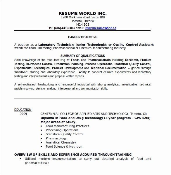 25 Food Service Resume Template In 2020 Resume Examples