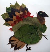 leaf bird.. great project for the autumn