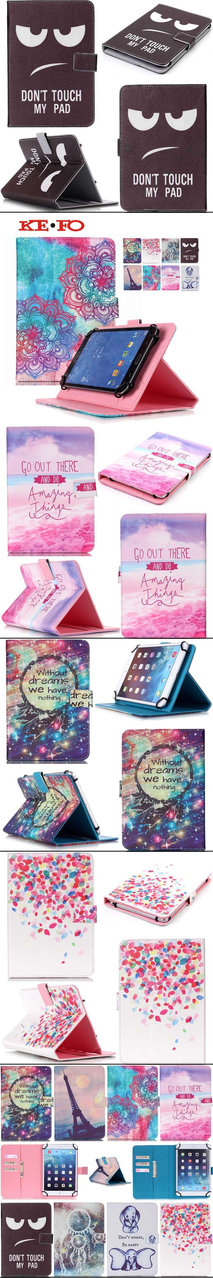 Print pattern Wallet universal 7 inch tablet leather case Stand Cover For Android Tablet PC PAD tablet 7 inch Accessories Y3d25D