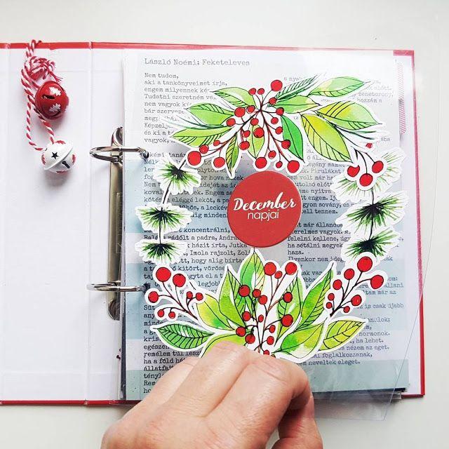 Karácsonyi festett csokrok, ágacskák, letölthető, nyomtatható print& cut file