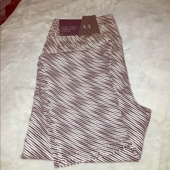 A/X black & white jeans for women A/X black & white jeans straight legs with 5 pockets. Never been worn. A/X Armani Exchange Pants