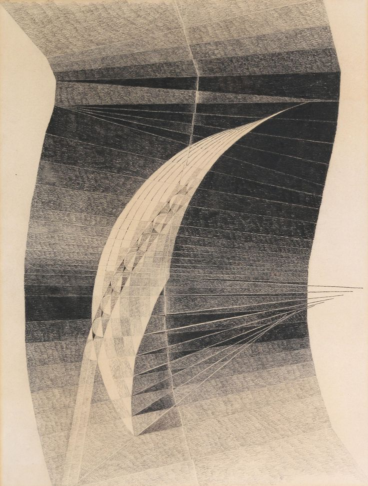 Erika Giovanna Klien (1900-1957), Gliding Flight, c.1935. Pencil, black chalk on paper, 62 x 47 cm.