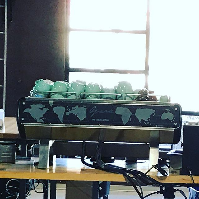 The beauty at @49th tasting and testing. Great space and people! Thanks to @vincepiccolo @sanremocoffeemachines @sanremocanada #espresso #roasters #italian
