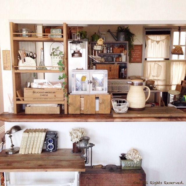 手作り棚/DIY/DIYで作ったお部屋/キッチンのインテリア実例 - 2014-08-21 18:50:44 | RoomClip(ルームクリップ)