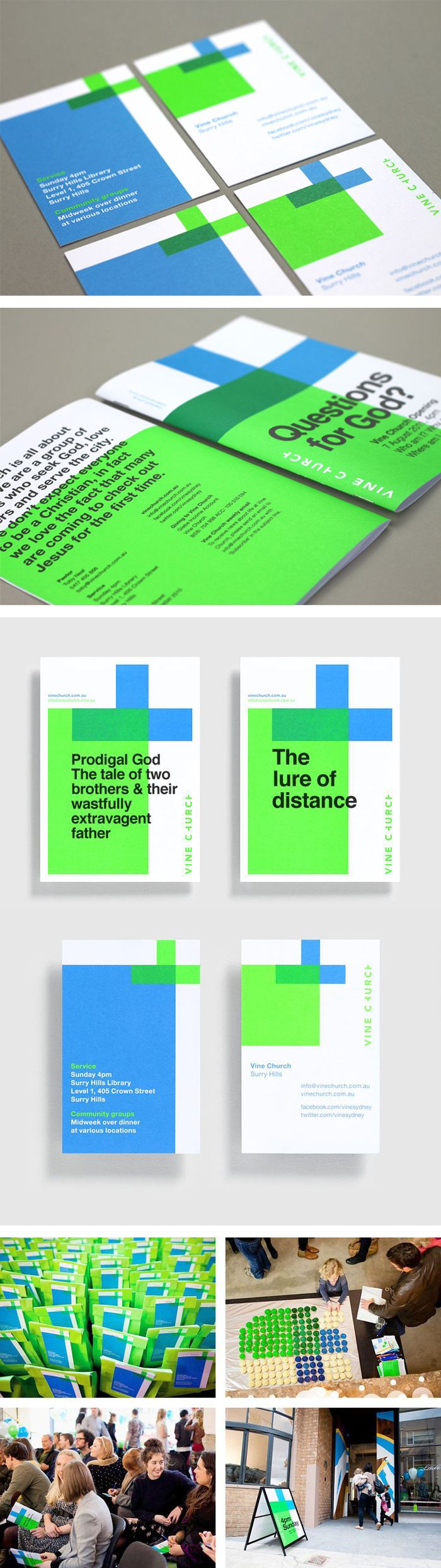 Vine Church identity and branding by Toko #branding #stationery #businesscard