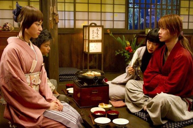 Himura Kenshin (Sato Takeru)/ Kamiya Kaoru(Takei Emi)/ Takani Megumi(Aoi Yu) in 'Rurouni Kenshin'(2012)