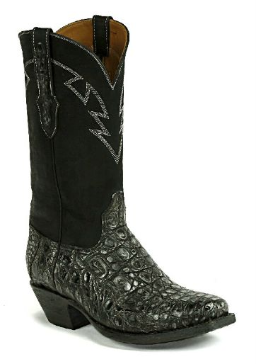 Caiman Crocodile Flank Boots Style 2503 Custom-Made by Black Jack Boots