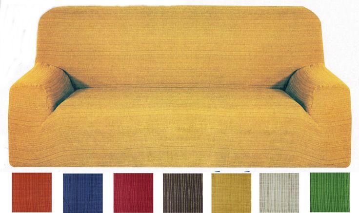 Copridivano 1 2 3 4 Posti Elasticizzato vari colori fantasia a righe per divani