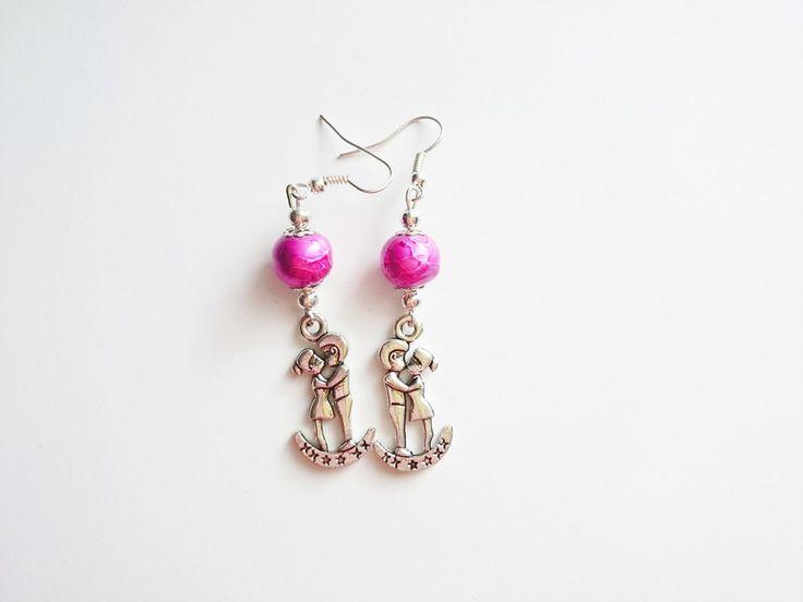 Ohrringe & Ohrhänger - Ohrringe Paar in der Liebe valentines - ein Designerstück von atelier-house-decor bei DaWanda  #valentinstag #geschenkideen #loveyou #valentinsday