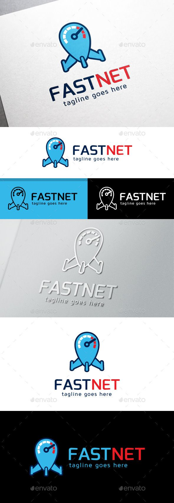Fast Internet Logo by cubecolor This logo is great for internet, link, share, hosting, creative agency, service, website, agenct, develop, multimedia, media, cons