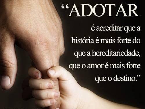 Post  #: Hoje (25/05) é o Dia Nacional da Adoção.