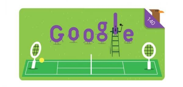 Google is celebrating the 140th anniversary of the Wimbledon championships with a new Doodle as the tennis tournament begins Monday.