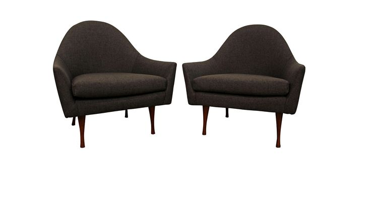 Contact us for shipping info & more pictures.  Pair of Mid-Century Danish Modern Paul McCobb Symmetric Group Lounge Club Chairs  What a find. Offered is a very cool Pair of Mid-Century Danish Modern Paul McCobb Symmetric Group Lounge Club Chairs.  The set includes 2 lounge chairs. The chairs have t