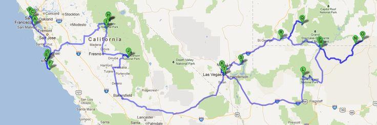 Around California, Nevada, Arizona and Utah
