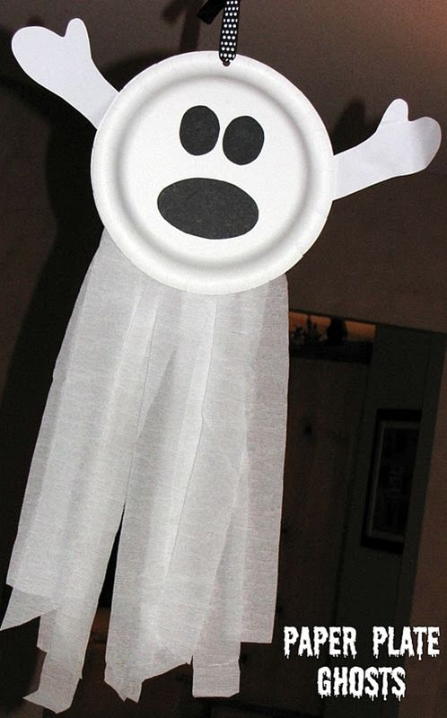 Halloween Party Craft. Paper plate ghosts!