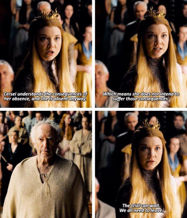 Margaery was so successful because she never underestimated Cersei.  It is tragic that she died because someone else did.  Game of Thrones. ASOIAF