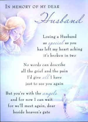 http://www.sympathymessageideas.com/sympathy-poems/ Sympathy Poem for a Husband
