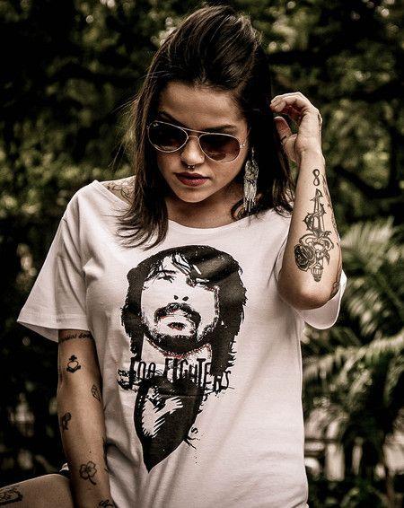 Camiseta Feminina - Foo Fighters - David Grohl