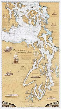 Puget Sound Art from Metsker Maps of Seattle