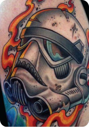neotraditional stormtrooper helmet by Dave Tevenal