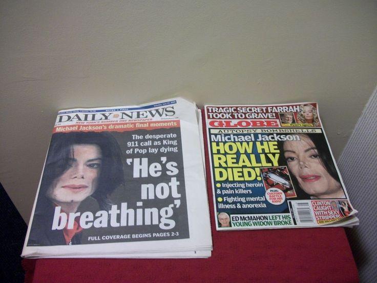 Lot 2 MICHAEL JACKSON 1 NY Daily News Newspaper 1 Globe Death Memorial B1D1