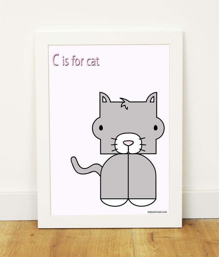 """""""C is for cat"""" poster"""
