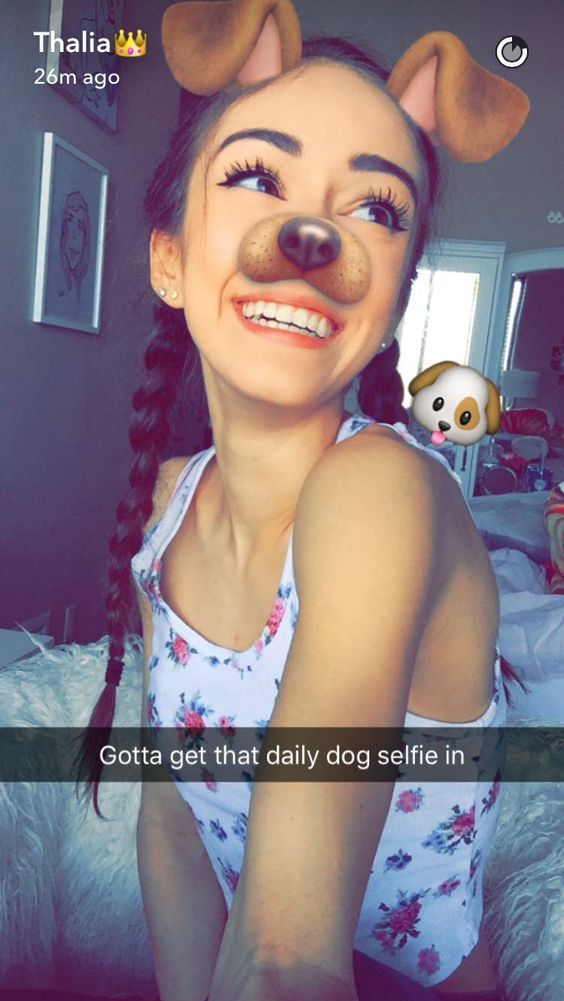 Cute Snapchat Dog Filtered Girl  Aesthetic Tumblr  Pro -4812