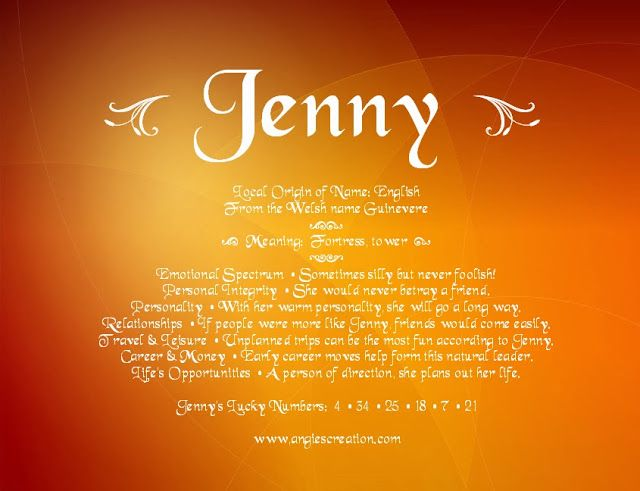 Name meaning - Jenny | Jennifer, Jenny, J | Pinterest ... - photo#48