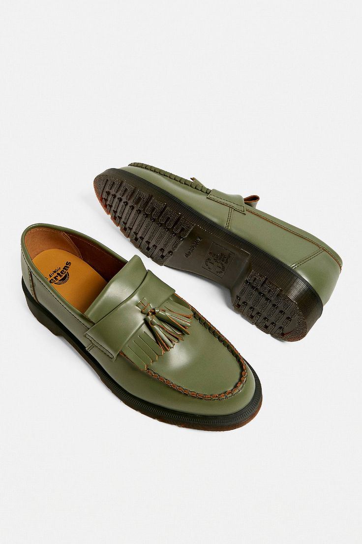 Dr Martens Adrian Khaki Tassel Loafers Loafers Tassel Loafers Doc Martens Loafers