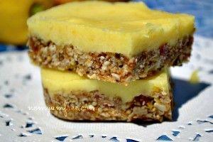 Raw Nut Free Lemon Bars #grain free #gluten free
