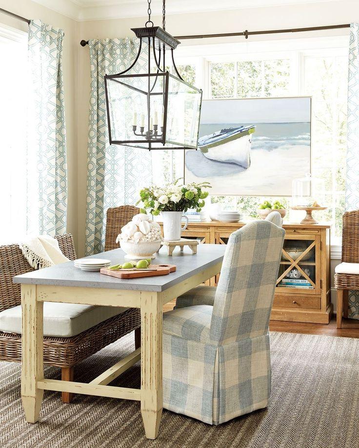 3 New Fall Fabrics And How To Use Them Coastal ColorsCoastal StyleDining Room