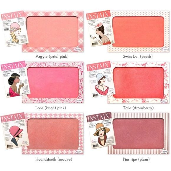 3 The Balm Instain Blushes Houndstooth, Swiss Dot and Toile ONLY!!Barely used. The Balm Cosmetics Makeup Blush