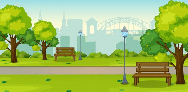 A Park In Urban City Anime Scenery Wallpaper Anime Backgrounds Wallpapers Anime Scenery