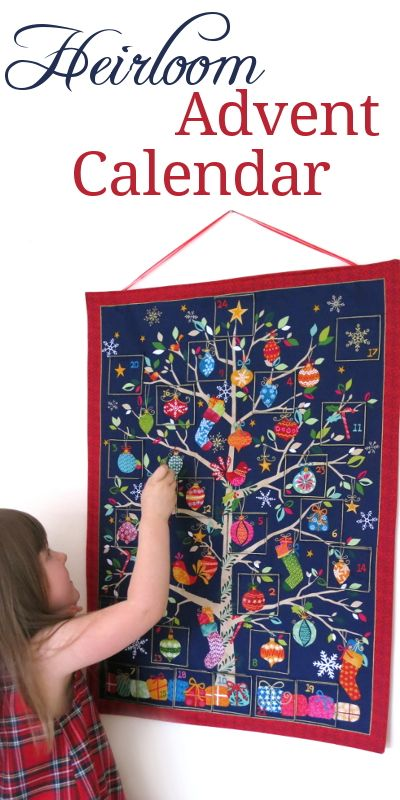 What an exquisite fabric advent calendar! This is a perfect way to begin a new Family Christmas tradition