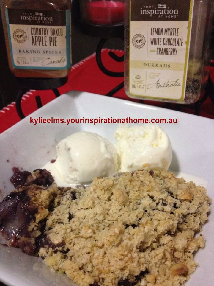 Cheats YIAH Country Baked Apple and Blueberry Crumble