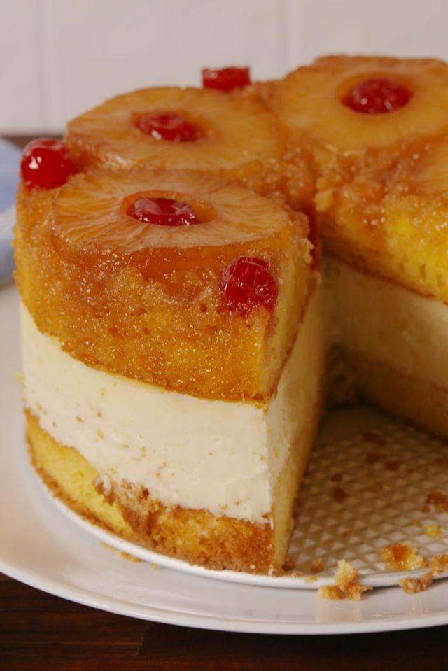 Pineapple Upside Down Cheesecake   - Delish.com