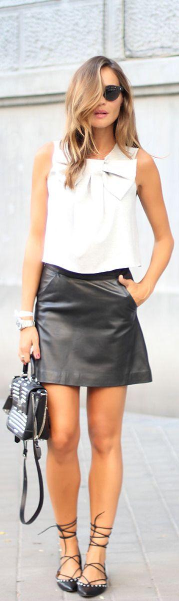 BLACK LEATHER MINI / Fashion By Lady Addict