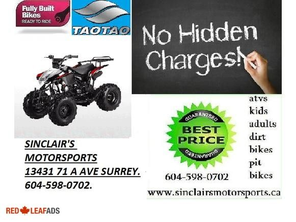 ★★★125CC TAO TAO SEMI AUTO WHOLESALE DIRECT★★★ ★★★125CC TAO TAO SEMI AUTO WHOLESALE DIRECT★★★THE TEENS JUST LOVE THESE. ★★★SINCLAIR'S MOTORSPORTS WHOLESALE★★★ # 1 SOURCE FOR ALL ...