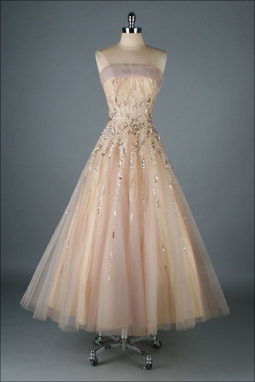 ~Mildred Moore evening dress, 1950s~OOOOOO!!!! @Karen Darling Space & Stuff Blog Bowles @Hollie Baker A L E Y |  V A N  |  L I E W Grady
