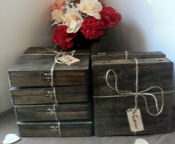 Groomsmen Gift  Set of 8 Cigar Boxes  Wedding by TheSmilinBride, $165.00