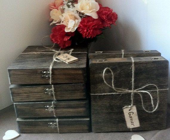 Groomsmen Gift  Set of 8 Cigar Boxes  Wedding by TheSmilinBride, $165.00