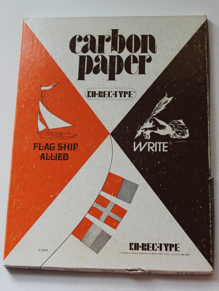 Vintage Blue Carbon Paper, KO-REC-TYPE 8.5