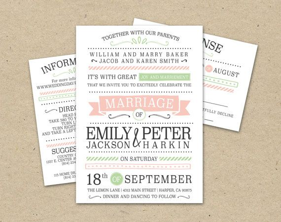 91 best Wedding ideas for Erica images on Pinterest Hairdo - free downloadable wedding invitation templates