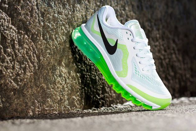 Nike Air Max 2014 WMNS   White / Black   Venom Green   Volt Ice