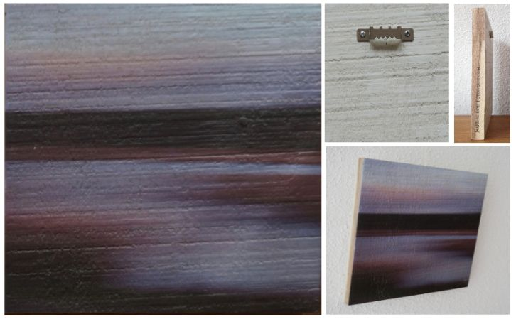 A PALE SHEEN THAT FADED AWAY IN THE NIGHT - Foto op hout, Photo on wood, print, afdruk, acaciahout, FSC keurmerk