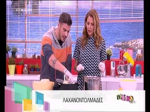 Good video on how to make Lakhanodolmades with Avgolemoni Sauce (**)